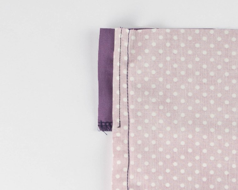 Concealed zip with facing 4